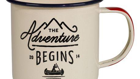 GENTLEMEN'S HARDWARE Smaltovaný cestovní hrnek Adventure Cream, krémová barva, smalt