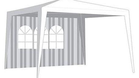 Bočnice zahradního stanu s oknem - pruhy