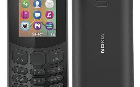 Mobilní telefon Nokia 130 Dual SIM 2017 černý (A00028518)