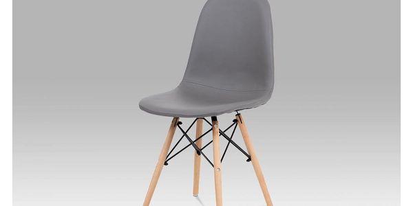 Jídelní židle CT-395 GREY šedá / buk / černá AUTRONIC