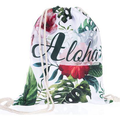 Fashion Icon Sportovní vak Aloha tropické listy