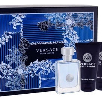 Versace Pour Homme dárková kazeta pro muže toaletní voda 50 ml + sprchový gel 50 ml + balzám po holení 50 ml