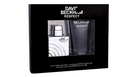 David Beckham Respect EDT dárková sada M - EDT 40 ml + sprchový gel 200 ml