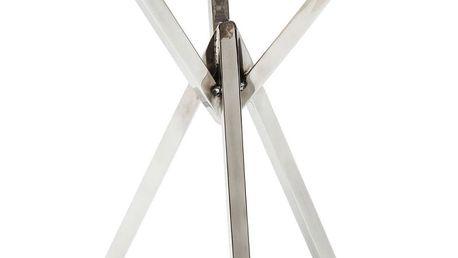 Šedý odkládací stolek Kare Design Trasury, ⌀40cm