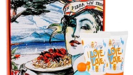 Moschino Cheap And Chic I Love Love dárková kazeta pro ženy toaletní voda 4,9 ml + tělové mléko 25 ml + sprchový gel 25 ml miniatura