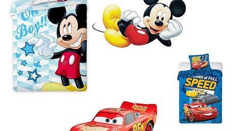 Dětské povlečení Mickey Mouse/Auta- Cars