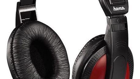 Sluchátka Hama HK-5618 černá/červená (135618)