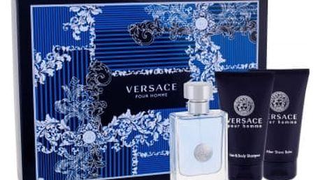 Versace Pour Homme 50 ml dárková kazeta pro muže toaletní voda 50 ml + sprchový gel 50 ml + balzám po holení 50 ml