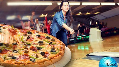 1 hod. bowlingu až pro 6 os. a italská pizza