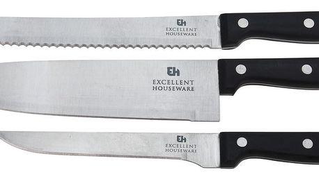 Sada nerezových kuchyňských nožů Excellent, 3 ks