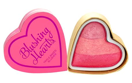 Makeup Revolution London I Heart Makeup Blushing Hearts 10 g tvářenka Candy Queen Of Hearts W