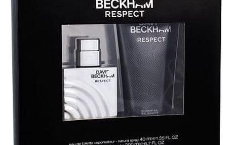 David Beckham Respect EDT dárková sada M - EDT 40 ml + sprchový gel 200 ml