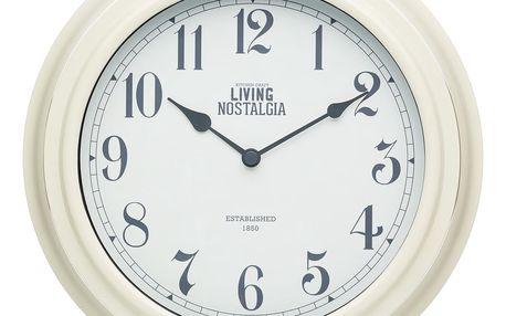 Krémové nástěnné hodiny Kitchen Craft Living Nostalgia, Ø 25,5cm