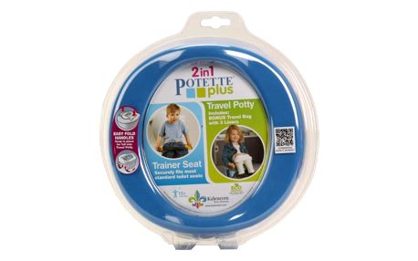 POTETTE PLUS 2v1 Cestovní nočník / redukce na WC – modrá/žlutá