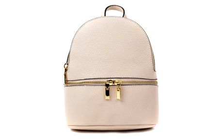 Béžový kožený batoh Renata Corsi Suelo