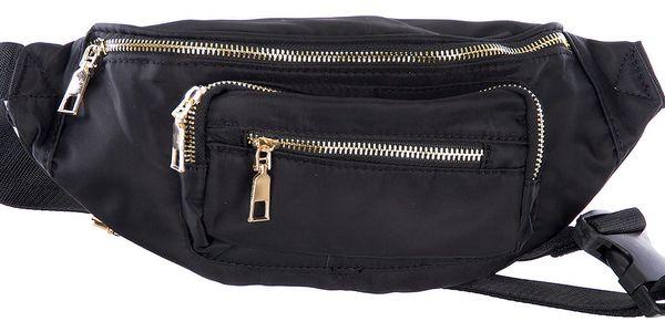 Fashion Icon Černá ledvinka textilní do pasu a přes rameno