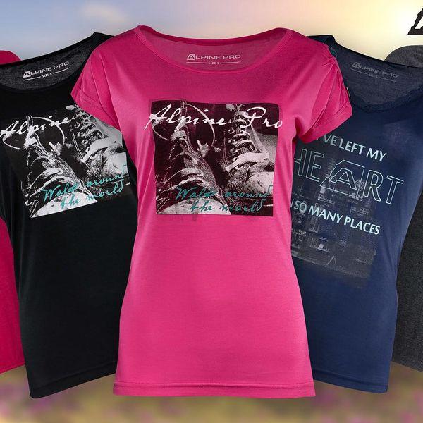 Dámská trička Alpine Pro v mnoha stylech