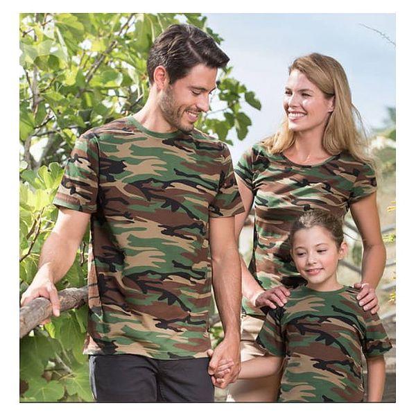 Maskáčové bavlněné tričko Family - SADA PRO CELOU RODINU!