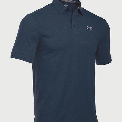 Tričko Under Armour Charged Cotton Scramble Polo Modrá