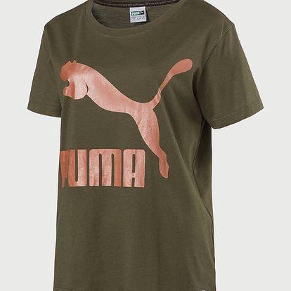 Tričko Puma Archive Logo Tee Olive Night Hnědá