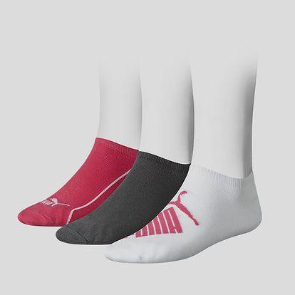 Ponožky Puma GRAPHIC SNEAKER 3 Pack Barevná