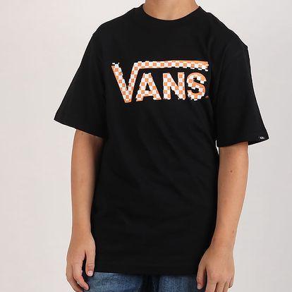 Tričko Vans By Checker Classic I Black/Orange Černá