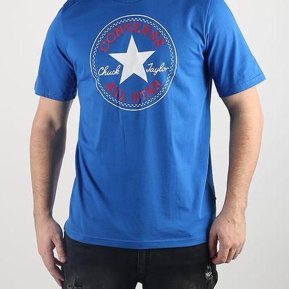 Tričko Converse Core Chuck Patch Tee Modrá
