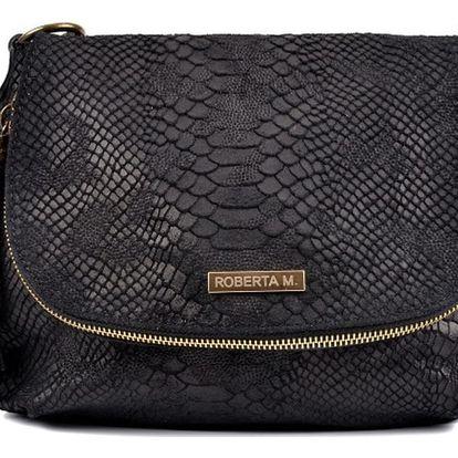 Černá kožená kabelka Roberta M Turena