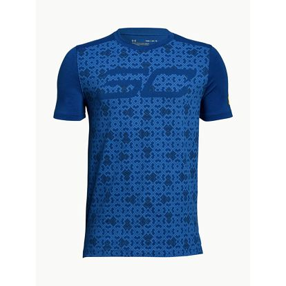 Tričko Under Armour Sc30 SS Tee Modrá