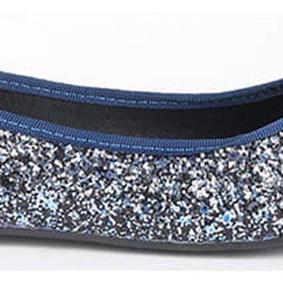 Balerínky Primadonna Calzatura Ballerina Glitter Blue Modrá