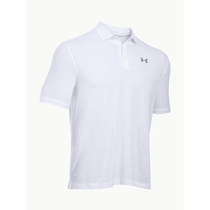 Tričko Under Armour Charged Cotton Scramble Polo Bílá