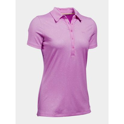 Tričko Under Armour Heatgear Zinger SS Novelty Polo Růžová