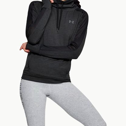 Mikina Under Armour Featherweight Fleece Funnel Černá