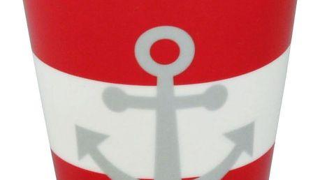Krasilnikoff Latte hrneček Red Anchor, červená barva, porcelán 300 ml