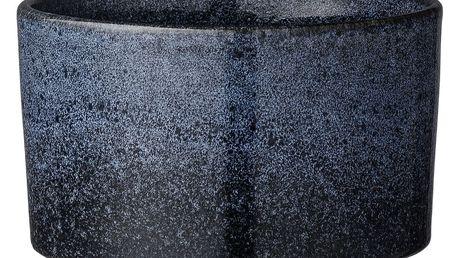 Bloomingville Obal na květiny Navy blue 8 cm, modrá barva, keramika