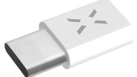 Redukce FIXED MicroUSB / USB-C bílá (FIXA-MTOC-WH)
