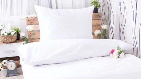 XPOSE ® Bavlněné povlečení na dvě lůžka MICHAELA - bílá 140x200, 70x90