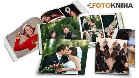 Originální fotokniha ve formátu A4 v pevné vazbě se 40, 60 či 80 stranami
