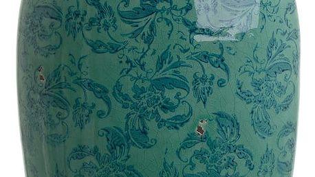 Smaragdově zelená keramická váza InArt Antique, výška 44 cm