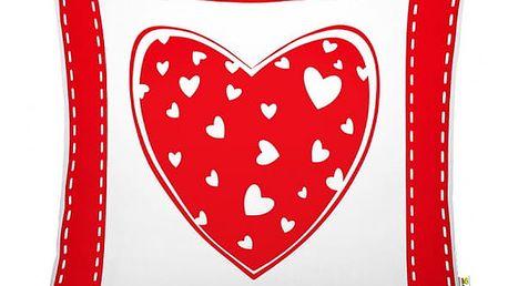 Romantický polštář s výplní Lovely 40x40 cm