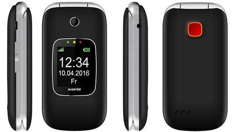 Mobilní telefon Aligator V650 Senior černý/stříbrný (AV650BS)