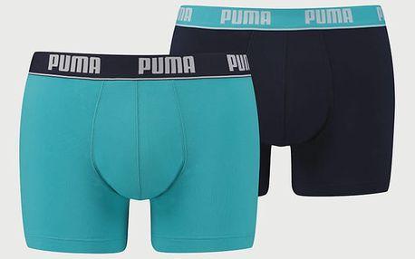 Boxerky Puma Basic Stripe Elastic Boxer 2 Pack Barevná