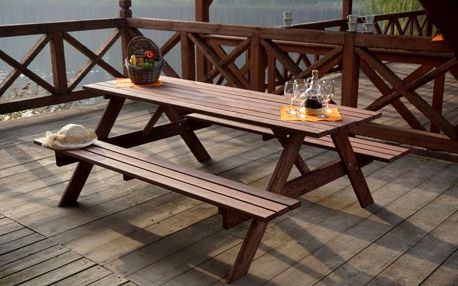 Tradgard 35269 Dřevěný PIKNIK set - 200CM