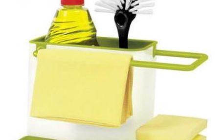 Bílo-zelený kuchyňský stojánek na mycí prostředky Joseph Joseph Caddy Sink Tidy