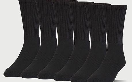 Ponožky Under Armour Charged Cotton 2.0 Crew 6 Pack Černá