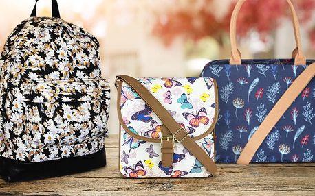 Dámské plátěné tašky a batohy s veselými potisky