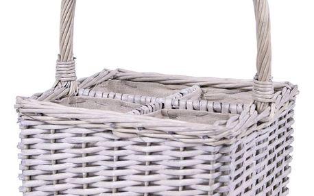 Proutěný košík na lahve EgoDekor Picnic