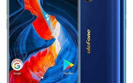 Mobilní telefon UleFone MIX S Dual SIM modrý + dárek