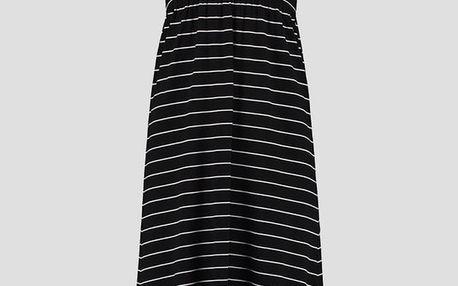 Šaty O´Neill LW JERSEY HIGH/LOW SKIRT Černá