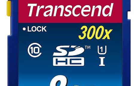Paměťová karta Transcend SDHC Premium 8GB UHS-I U1 (45MB/s) (TS8GSDU1)